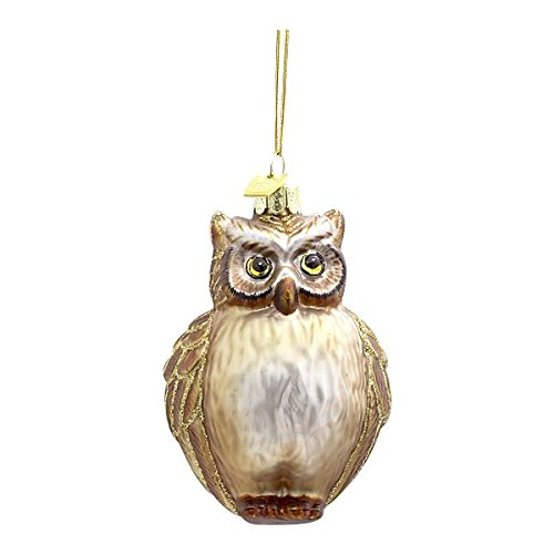 Kurt Adler Noble Gems Glass Owl Ornament