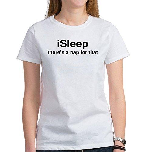 CafePress iSleep Women's T-Shirt - Womens Cotton T-Shirt, Crew Neck, Comfortable & Soft Classic Tee -