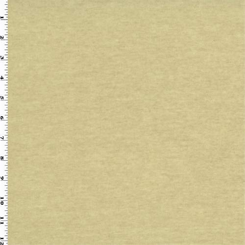(Sugar Cookie Beige Wool Jersey Knit, Fabric by The Yard)