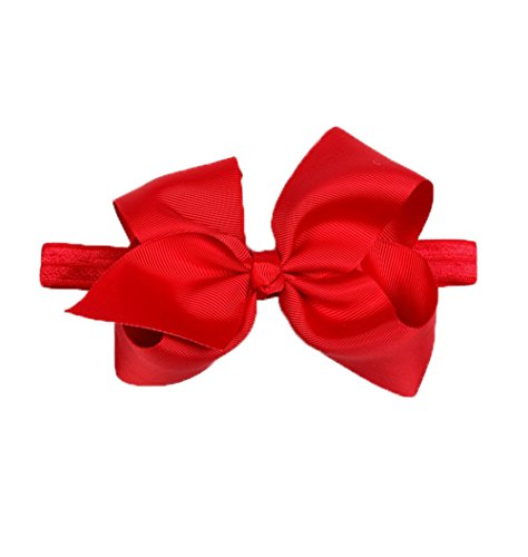 (DDazzling Baby Large Hair Bow Headband Hair Accessories Photo Props (Red))