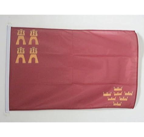 AZ FLAG Bandera Nautica de la REGIÓN DE Murcia 45x30cm - Pabellón de conveniencia MURCIANA 30 x 45 cm Anillos: Amazon.es: Hogar