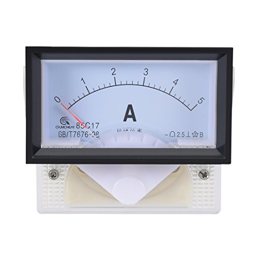 uxcell 85C17 Analog Current Panel Meter DC 5A Ammeter for Circuit Testing Ampere Tester Gauge 1 PCS