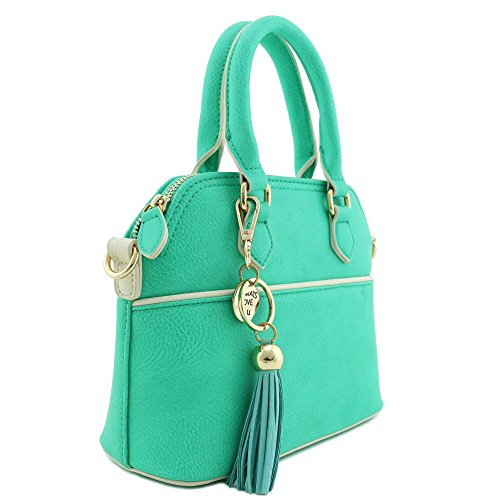 Tassel Satchel with Accent Crossbody Mint Bag Dome Mini w1q6B871