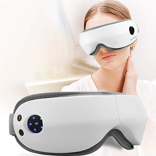 Multi-Functional Electric Eye Massager, Eye Care Instrument with Air Pressure, Heating,Vibration, Music for Relief Eye Fatigue,Dry Eyes and Dark Circle, Stress Relief Protection Vision Charging