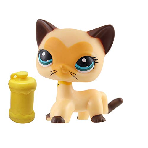 - LPSOLD LPS Shorthair Cat 3573 Tan Brown Heart Face Blue Eyes Kitten Kitty with Accessories Action Cartoon Figure Collection Boy Girl Kid Gift (lps 3573)