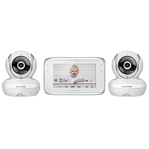 Motorola MBP38S-2 Digital Video Baby Monitor with 4.3-Inch Color LCD Screen and 2 Cameras with Remote Pan, Tilt and Zoom