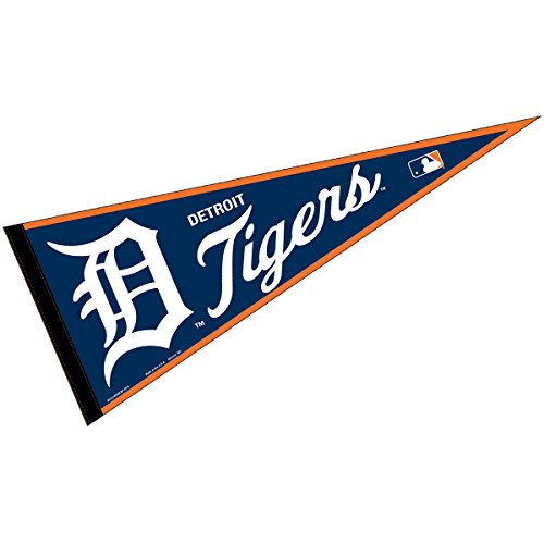 Detroit Tigers MLB Large Pennant (Tigers Party Pennant Flags)
