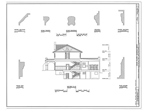 (Historic Pictoric Blueprint Diagram HABS Cal,36-Kelso,1- (Sheet 9 of 10) - Union Pacific Railroad Depot, Intersection of Kelbaker & Kelso CIMA Roads, Kelso, San Bernardino County, CA 14in x 11in)