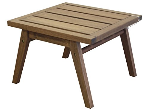 Timbo Mestra Hardwood Outdoor Patio Side Table, Table, Brown