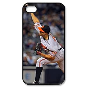 MLB iPhone 4,4S White Baltimore Orioles cell phone cases&Gift Holiday&Christmas Gifts NADL7B8824767