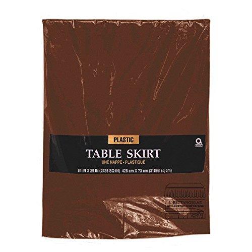 amscan International falda de mesa de plástico, marrón: Amazon.es ...
