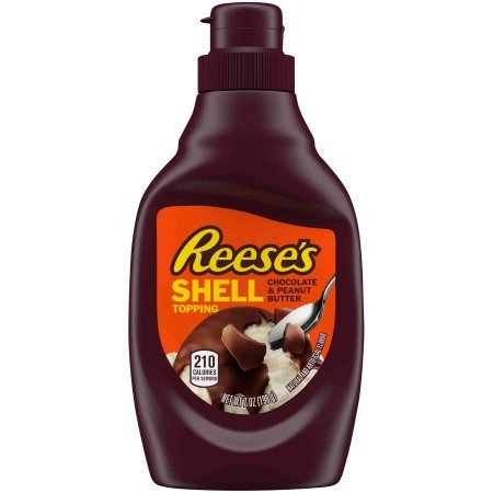 REESE'S Chocolate & Peanut Butter Shell Topping (Pack of 12) by Reese (Image #1)
