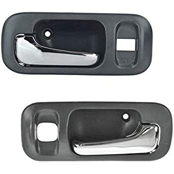 Pair Set Front Inside Interior Door Handles Gray Bezel w//Chrome Handles Replacement for Honda CR-V 72164-S10-A11ZA 72124-S10-A11ZA AutoAndArt