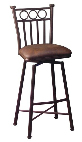 219-26-AR-649 Bostonian Swivel Barstool, 26-Inch, Autumn Rust and Florentine Coffee (Swivel Counter Stool Pastel)