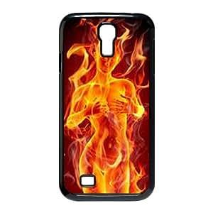 ZK-SXH - Fire Girl Custom Case Cover for SamSung Galaxy S4 I9500, Fire Girl DIY Cell Phone Case