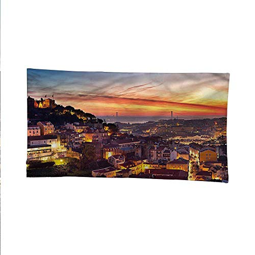 Cityscapetapestrywall tapestryCityscape of Lisbon 84W x 70L Inch