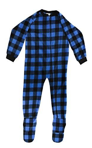 95598-7B-24MO Prince of Sleep Footed Pajamas / Micro Fleece Blanket Sleepers 24 Months Black / Royal Buffalo Plaid