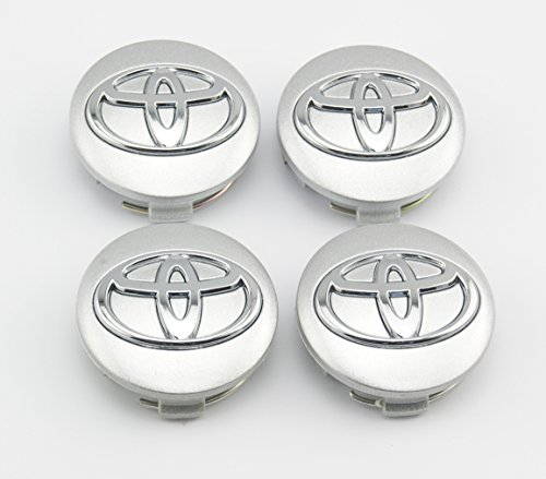 Angel Mall Toyota 57mm Outer Diameter Silver Wheel Center Hub Caps Cover 4-pc Set (Toyota Rav4 Wheel Cover compare prices)