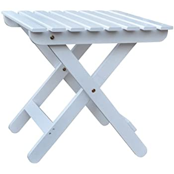 Shine Company Adirondack Square Folding Table, White