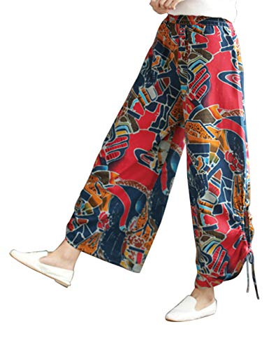 Indossare In per Cascante Pantaloni Linen All'aperto In Pantaloni Sciolto Biancheria Forma Classico Rosso Jogging Casuale Pants Giallo Comodo Esecuzione Gli Sport Zhhlaixing XxO4wq8P8