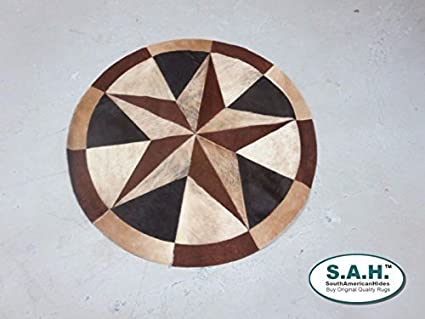 11dd68bb754 High Quality Cowhide Rug Leather Cow Hide Steer Patchwork Area Round Carpet  Cowskin Rugs - Orientals