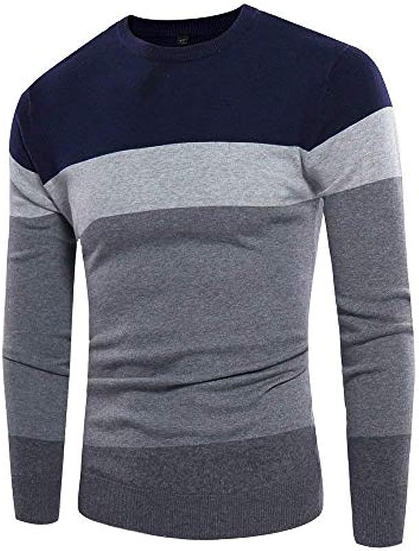 Męski okrągły dekolt sweter jesień sweter zimowa moda sweter dziergany casual prosty styl długi rękaw sweter dziergany: Odzież
