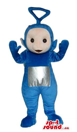 Blue teletubby cartoon character SpotSound Mascot US costume fancy dress - Teletubby Fancy Dress