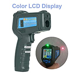 BSIDE BTM21C Digital IR Infrared Thermometer Meat Food BBQ Temperature Gun -58?~1022? (-50?~550?) with K-type Thermocouple