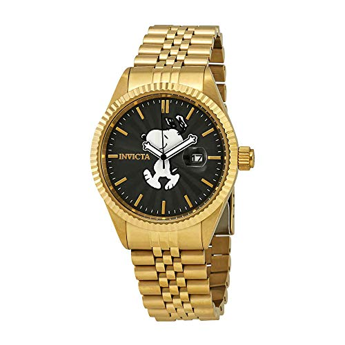 Invicta Men's Character Collection Analog-Quartz Watch with Stainless-Steel Strap, Gold, 20 (Model: 24801