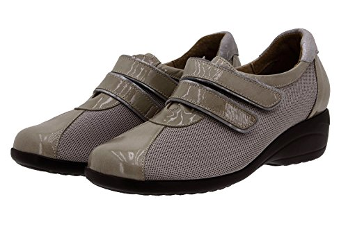 Piesanto piel de zapato Calzado Visón ancho velcro 8989 mujer confort cómodo extraíble plantilla 1xnqqIFf