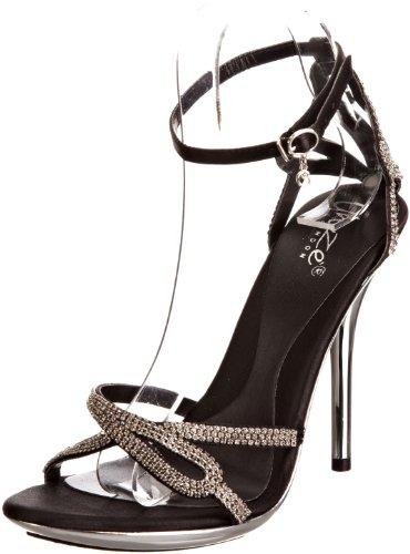 Unze Evening Sandals L18218W - Sandalias para mujer Negro