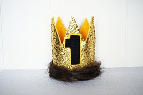 Where The Wild Things Are Custom Small Gold Birthday Party Max Crown Hat (Handmade Lion Mask)