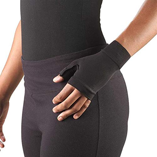 (Ames Walker AW Style 715 Lymphedema Gauntlet 20 30 mmHg Small Black Treatment for Lymphedema Hand and Wrist Support)