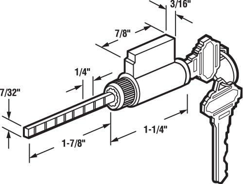 Key Cylinder Lock Wkeys 1 78 In Tailpiece Brass Housing 2
