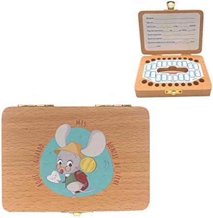Caja de madera para guardar los dientes de leche El Ratoncito ...