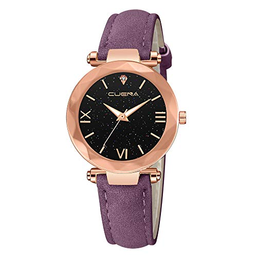 Mitiy Ladies Elegance Watch, Fashion Starry Sky Watch, Leather Band Watches for Women ()