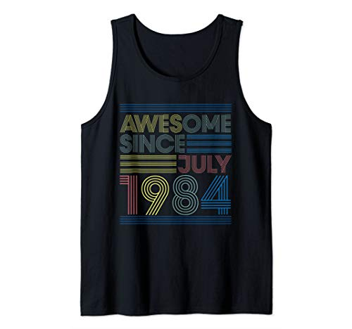 - 35th Birthday Gifts - Awesome Since July 1984 Tank Top