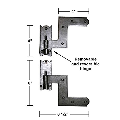 Renovator's Supply Shutter Hinge Hardware Black Iron 6 Inch X 6 1/2 Inch Set Of 6 by Renovator's Supply (Image #2)
