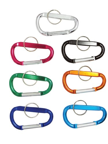 "6pc 3/"" Aluminum Carabiner D-Ring Key Chain Clip Hook ORANGE *US FREE SHIPPER*"