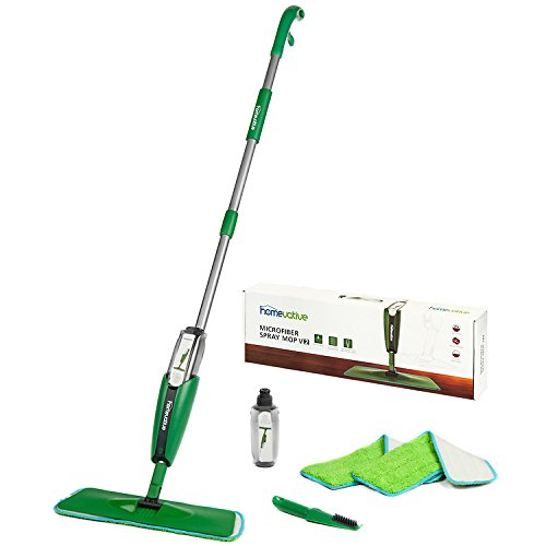 Price comparison product image Homevative Microfiber Spray Mop Kit /w 3 pads, 2 bottles, and Precision Detailer