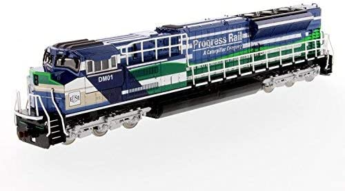 "1/87 Caterpillar""Progress Rail"" T4 Locomotive Train Engine in Blue and Green [並行輸入品]"