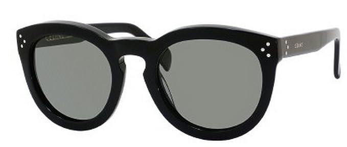cdac9bc44c31 Celine 41801/s 807 Black Preppy Round Sunglasses Polarised Lens Category 3  Size: Amazon.co.uk: Clothing