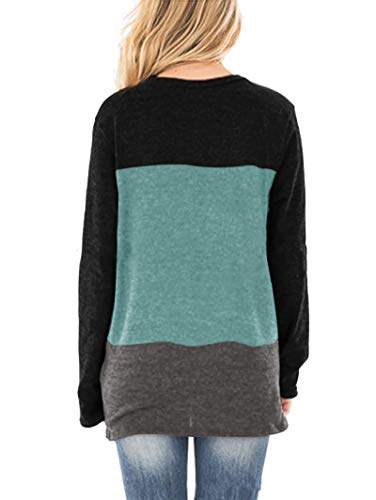 SAMPEEL Womens Casual Tunic Tops Twist Knot Pullover Sweatshirts