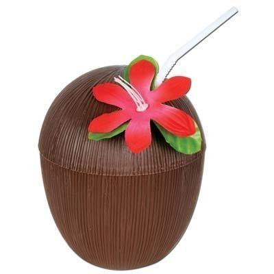 Forum Novelties 54940 Hawaiian Luau Party Tiki Bar Coconut Cup Pkg/12