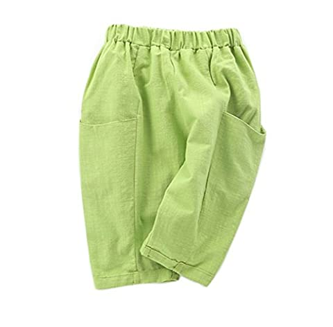 Taiycyxgan Unisex Baby Girls Boys Casual Pants Kids Elastic Harem Pants Summer Bloomers Green 90
