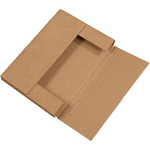 "Aviditi M1291K Corrugated Easy-Fold Mailer, 12-1/8"" Length x 9-1/8"" Width x 1"" Height, Kraft (Bundle of 50)"