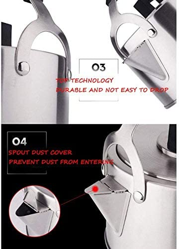 430 premium fluiten thee ketel rustresistant roestvrij staal gas elektrische inductiekookplaat ketel ketel camping teap Xping