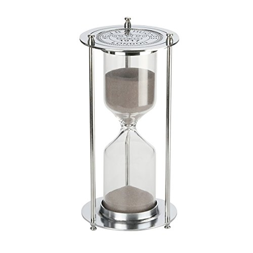 Hourglass『60 Minutes 』Sand Timer ,KHTD Metal Sandglass One Hour Glass for Office Study Bedroom Living Room Christmas Gift Wedding (Hour Glass 1)