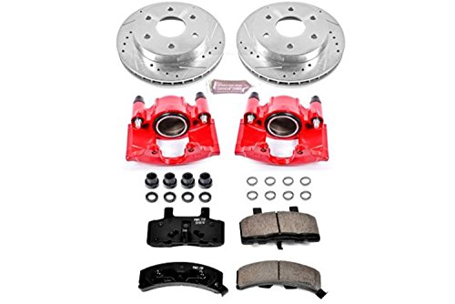 Power Stop KC1970 1-Click Performance Brake Kit with Caliper, Front Only ()
