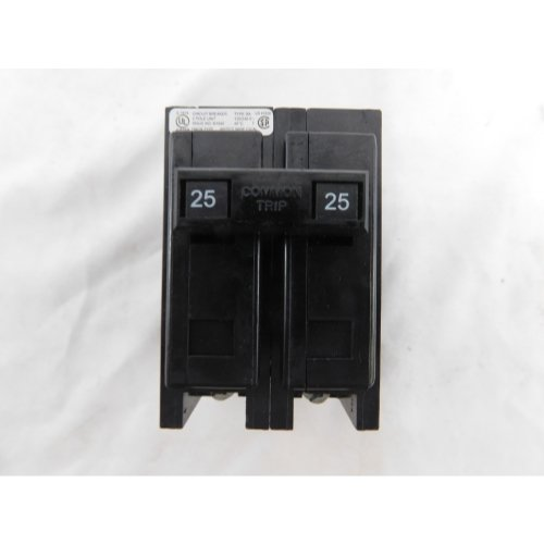 Eaton BAB2025 Bolt-On Mount Type BAB Industrial Miniature Circuit Breaker 2-Pole 25 Amp 120/240 Volt AC Quicklag